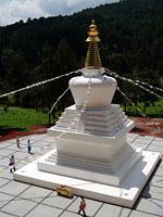 Estupa construida por Casa Tibet Mexico en Valle de Bravo
