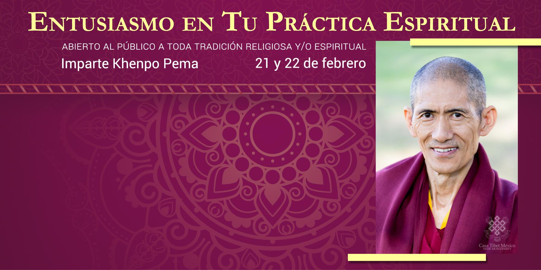 Lama Pema conferencia monterrey 2018