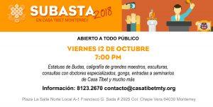 Subasta 2018 Casa Tibet Monterrey